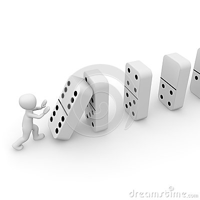 Free Dominoes 3D Royalty Free Stock Photo - 31197655