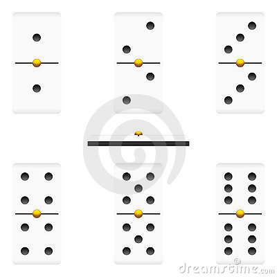 Dominoes pieces