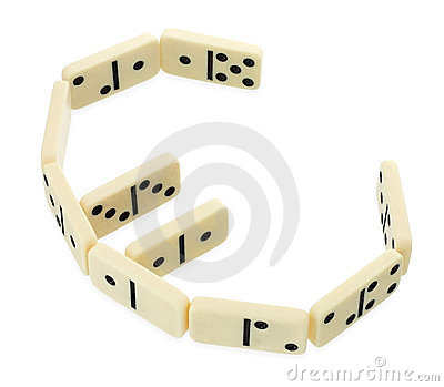 Dominoes in shape of euro currency symbol