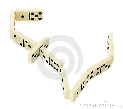 Dominoes in shape of pound currency symbol