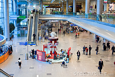 Domodedovo airport inside Editorial Photography