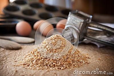 Domowej roboty chlebowe kruszki