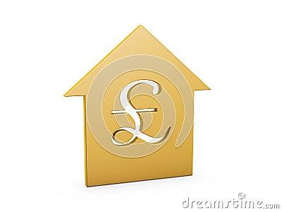 Domowy funtowy symbol