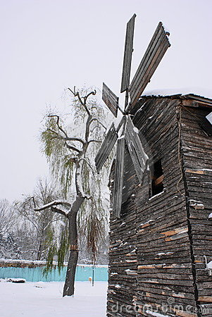 Don Quijote windmill in winter