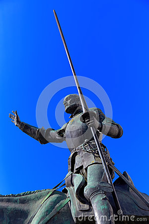 Don Quixote and Sancho Panza statue - Madrid Spain