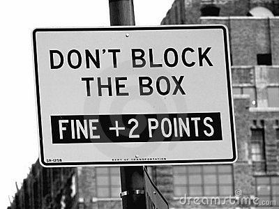 Don t Block The Box Street Sign in Manhattan, New York City
