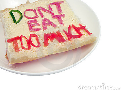 Don t eat too much sandwich-clipping path