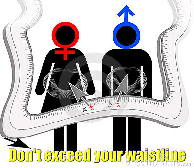 Don t exceed your waistline