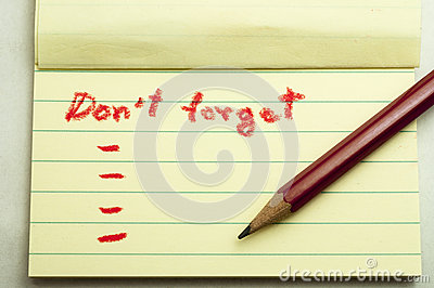 Don,t forget note