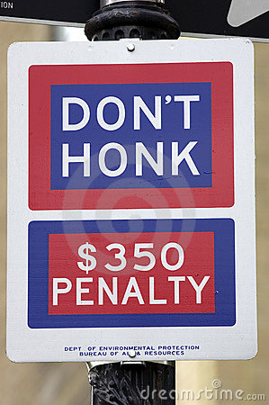 Don t honk street sign