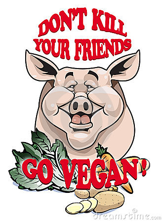 Don t kill your friends - Go vegan!