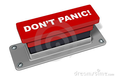 Don't Panic Button In Red Stock Photo - Image: 18788580