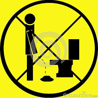 Don t Pee on Floor Warning Sign