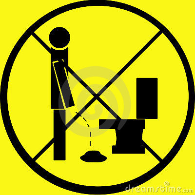 Free Don T Pee On Floor Warning Sign Royalty Free Stock Images - 41789