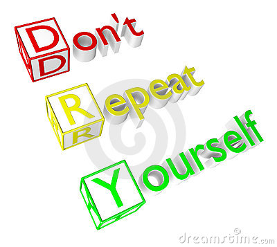 Don't Repeat Yourself Acronym Royalty Free Stock Photo - Image: 20103645