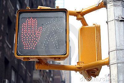 Don t walk traffic light