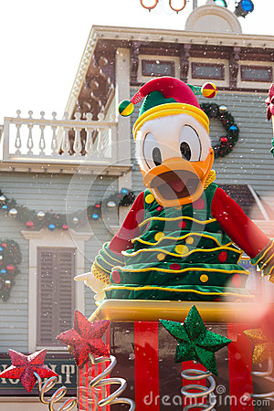 DONALD DUCK Celebrate Christmas New Year Editorial Photography