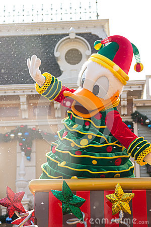 DONALD DUCK Celebrate Christmas New Year Editorial Stock Photo