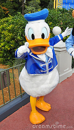 Donald Duck in Disney World Editorial Photography