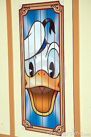 Donald Duck at Disneyland Editorial Image