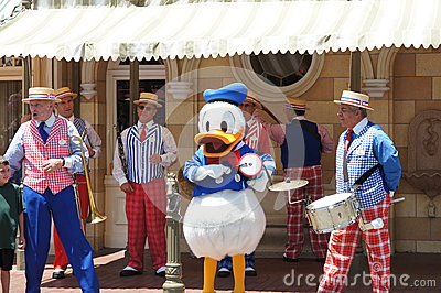 Donald Duck at Disneyland Editorial Stock Photo