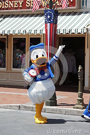 Donald Duck at Disneyland Editorial Photography