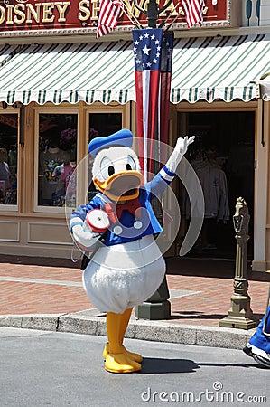 Donald Duck at Disneyland Editorial Photography
