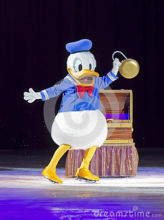 Donald Duck on Skates Editorial Stock Photo