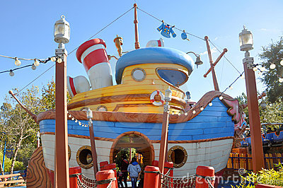 Donald s Boat at Disney World Orlando Editorial Stock Photo