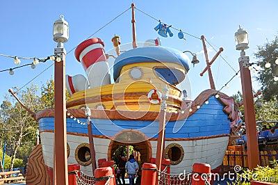 Donald s Boat at Disney World Orlando Editorial Stock Photo