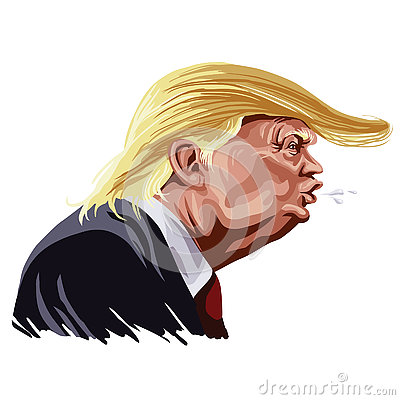 Free Donald Trump Caricature Shouting Stock Images - 73258024
