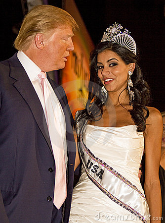 Donald Trump and Miss USA 2010 Editorial Photo