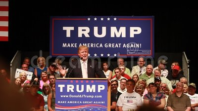 Donald Trump. Oskaloosa, Iowa - July 25, 2015: Donald Trump make America great again rally