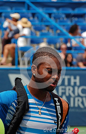 Donald Young, professional tennis player Editorial Stock Photo