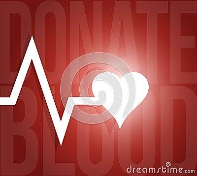 Free Donate Blood Lifeline Heart Illustration Stock Image - 48455781