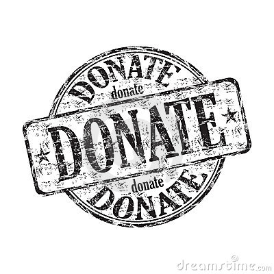 Donate grunge rubber stamp