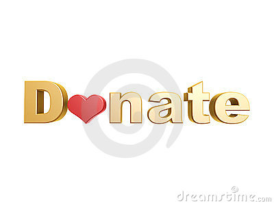 Donate red heart symbol