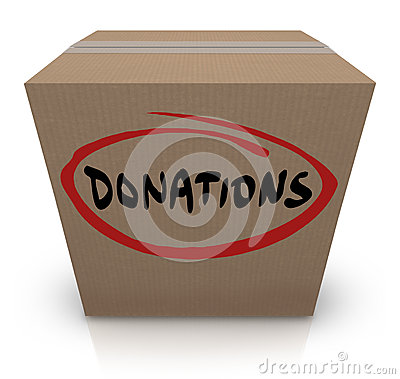 Donations Cardboard Box Food Charity Drive