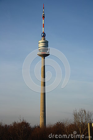 Donauturm / Danube tower in Vienna Editorial Stock Photo