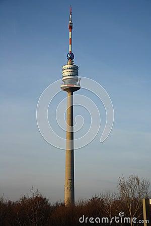Donauturm / Danube tower in Vienna Editorial Stock Photo