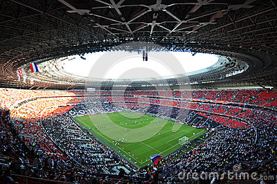 Donbass-Arena day Editorial Stock Photo