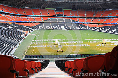 Donbass Arena football stadium. Editorial Stock Photo