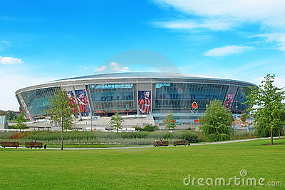 Donbass-Arena.New football stadium.Euro-2012. Editorial Image