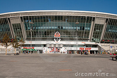 Donbass Arena: Ready for EURO 2012 Editorial Photography
