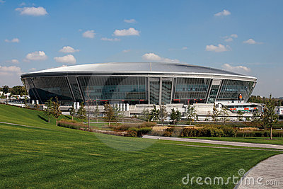 Donbass Arena: Ready for EURO 2012 Editorial Stock Image