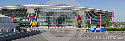 Donbass-Arena is ready for EURO 2012 Editorial Stock Photo