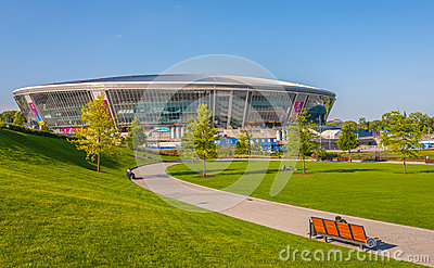 Donbass Arena stadium Editorial Stock Photo
