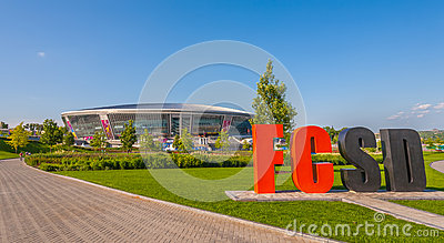 Donbass Arena stadium Editorial Photo