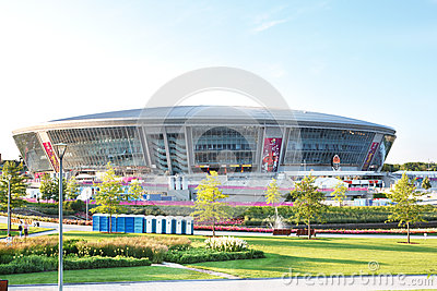 Donbass Arena stadium in Donetsk, Ukraine Editorial Image