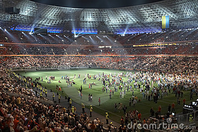 Donbass arena stadium, opening in Donetsk Editorial Photography